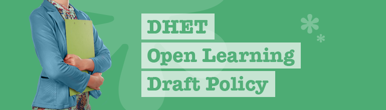 DHET Open Learning Draft Policy